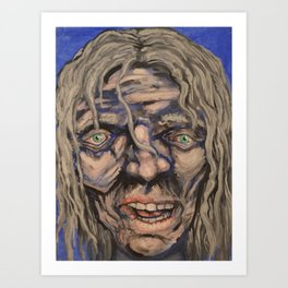 Ragged face Art Print