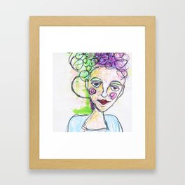 She was always stomping on egg crates that others tipped toed on Framed Art Print