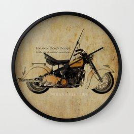 Indian Chief 1950 Wall Clock