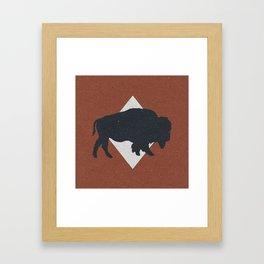 Bison & Blue Framed Art Print