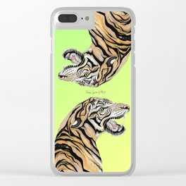 Tiger Totem Clear iPhone Case
