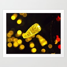 Christmas lights closeup Art Print