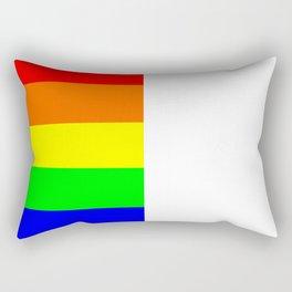 Rainbow Block in White Rectangular Pillow