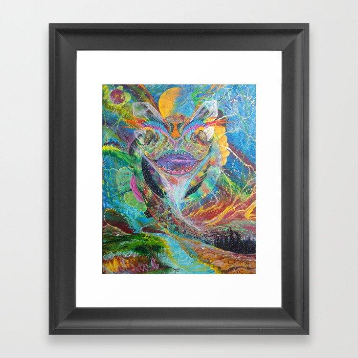 Sacred Dragon of Creation Gerahmter Kunstdruck