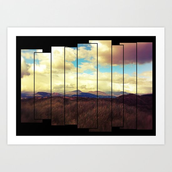 Fractured Landscape Art Print