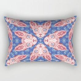 Sphynx Cat - Rose Quartz and Serenity version Rectangular Pillow