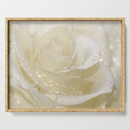 Rose white 01 Serving Tray