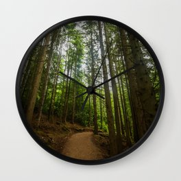 Green Forest Wall Clock