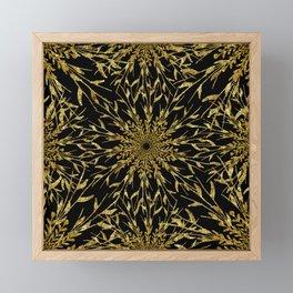 Black Gold Glam Nature Framed Mini Art Print