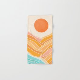 Adventure On The Horizon / Abstract Landscape Hand & Bath Towel