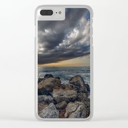Bridge across the sky to the other side Clear iPhone Case