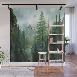 Mountain Morning 2 Wall Mural