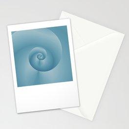 Blue Spiral: digital art Stationery Cards