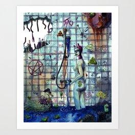 Junk shower Art Print