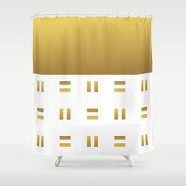 Modern geometric background gold #society6 #decor #buyart #artprint Shower Curtain