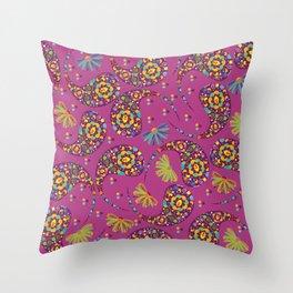 Paisley background Throw Pillow
