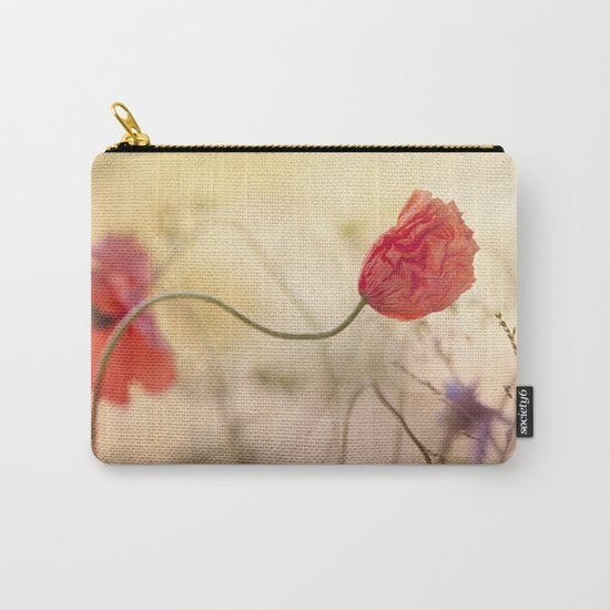 Poppy flower and sunset Carry-All Pouch