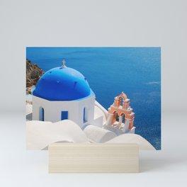 Santorini Orthodox Greek Church Mini Art Print
