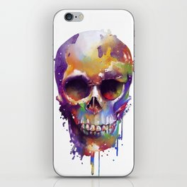 colorful skull iPhone Skin