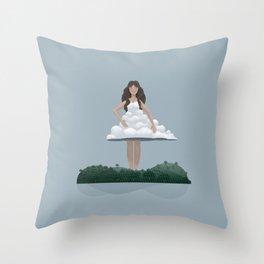 Cloud and woman Throw Pillow