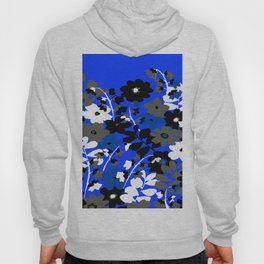 SUNFLOWER TRELLIS BLUE BLACK GRAY AND WHITE TOILE Hoody
