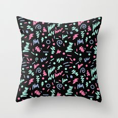 Minimal memphis 80s style pattern minimalist art and decor nursery baby Throw Pillow
