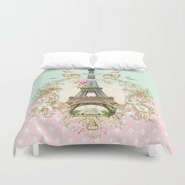 Bonjour Paris Duvet Cover