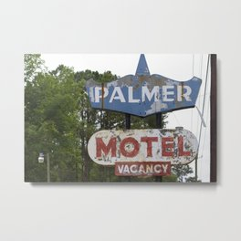 Palmer Motel Metal Print