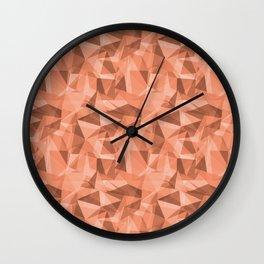 Abstract Geometrical Triangle Patterns 3 VA Fringe Orange - Orange Slice - Fiery Sky Orange - Heirlo Wall Clock