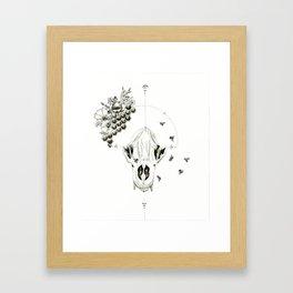 Bear Skulls & Honey Bees Framed Art Print