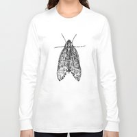 moth Long Sleeve T-shirts featuring moth by Eric Tiedt