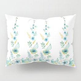 Blue Floral Twist Pillow Sham