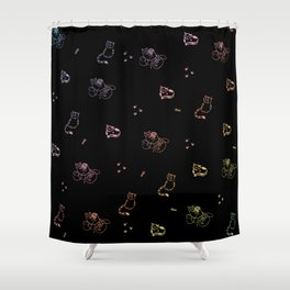 Kittens: A cat full of colors Shower Curtain