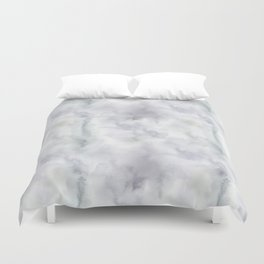 Abstract modern gray lavender watercolor pattern Duvet Cover