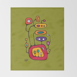 Broadcast in Full Color Throw Blanket