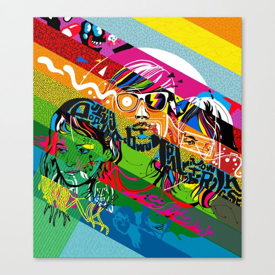 Tribute to Ed Banger Records Canvas Print