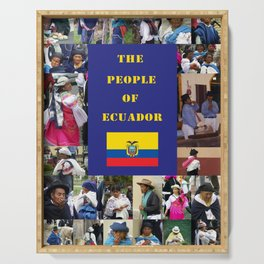 The People of Ecuador, Collage Serving Tray