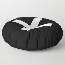 Multiplication Sign (White & Black) Floor Pillow