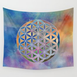 The Flower of Life in the Sky Wall Tapestry