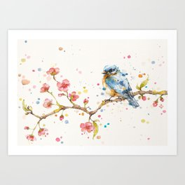 Little Journeys (BlueBird) Art Print