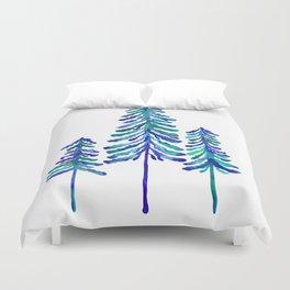 Pine Trees – Navy & Turquoise Palette Duvet Cover