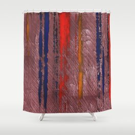 Bright red abstract painting Shower Curtain