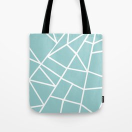 Light grayish cyanide geometric motif with lines Tote Bag
