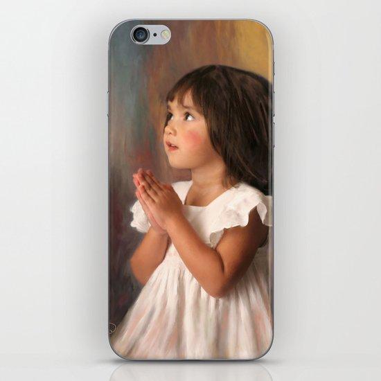 Precious child praying iPhone & iPod Skin