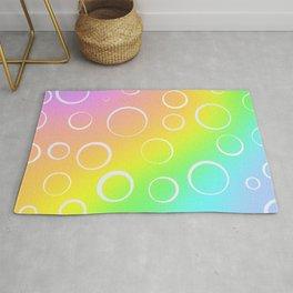 Colorful Rainbow Gradient Design! Rug