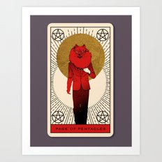 Page of Pentacles Art Print