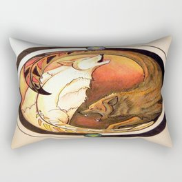 Two Wolves Rectangular Pillow
