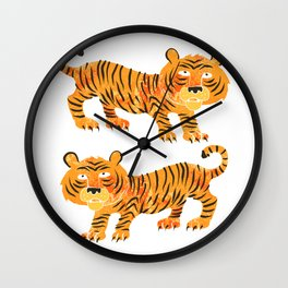 chinese tiger Wall Clock