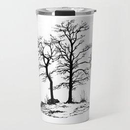 Dark tree silhouette Travel Mug