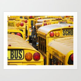 Brooklyn: School Buses Art Print
